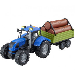 Dumel – Agro pojazdy – Niebieski traktor z przyczepą – 71011