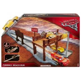 Auta 3 Cars Mattel DVT47 Zestaw torów Wyścig na plaży + Cruz Ramirez
