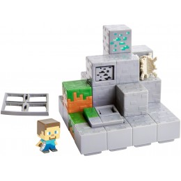 Minecraft DWV74 Zestaw z minifigurką Góra-kopalnia