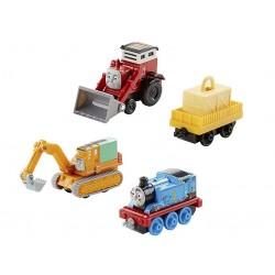 Kolejka Tomek Adventures DXT79 Cztery pojazdy budowlane
