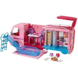 Barbie FBR34 Wymarzony kamper Barbie - rozkładany pojazd do zabawy