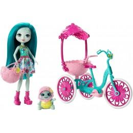 Enchantimals FCC65 Lalka Tayla Turtle z żółwiem + rower