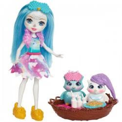 Enchantimals FCG78 Zestaw z lalką i zwierzątkami - Bajeczki Sóweczki