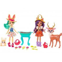 Enchantimals FDG01 Zestaw z lalkami i akcesoriami - Magiczny ogród