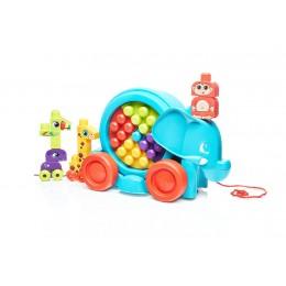 Mega Bloks FFG21 Spacerowy słonik z klockami - zabawka do ciągnięcia