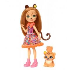 Enchantimals FJJ20 Lalka i zwierzątko - Cherish Cheetah i gepard