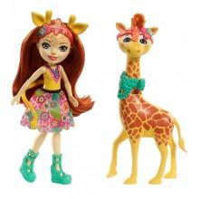 Enchantimals FKY74 Lalka Gillian Giraffe i żyrafa Pawl