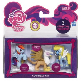 My Little Pony A0268 3 Mini Kucyki - Rainbow Dash Gilda the Griffon Wonder Bolts