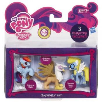 My Little Pony A0268 3 Mini Kucyki - Rainbow Dash Gilda the Griffon Wonder Bolts