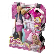 Lalka Barbie Projektuje Koszulki Naklejki Styl BDB32