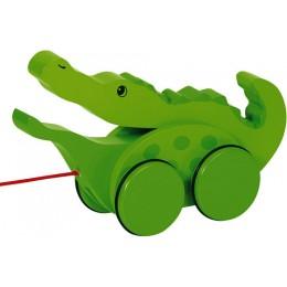 GOKI 54952 Drewniany Krokodylek do Ciągnięcia