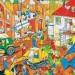 GOKI 57670 DREWNIANE PUZZLE PLAC BUDOWY