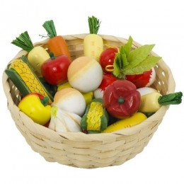 GOKI 51662 Drewniane Warzywa w Koszyku