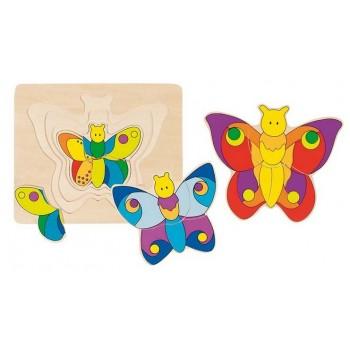 GOKI 57899 Układanka Warstwowa Puzzle Motyle