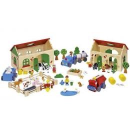 GOKI 58598 Moja Drewniana Farma Figurki