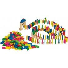GOKI 58963 Domino z Dzwonkiem i Kołowrotkami