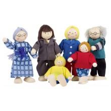 GOKI SO218 Figurki Kukiełki 8 sztuk Teatrzyk