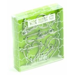 G3 Łamigłówki druciane 5 sztuk Zielony zestaw