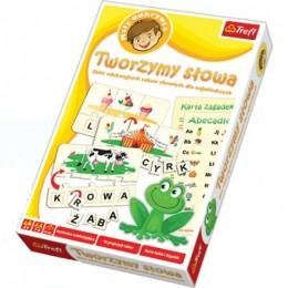 Trefl - 01124 - Gra Edukacyjna - Mały Odkrywca - Zbiór Edukacyjnych Zabaw Słownych dla Najmłodszych - Tworzymy Słowa