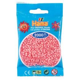 Koraliki Hama MINI 2000 Koralików 501-06 Kolor Różowy