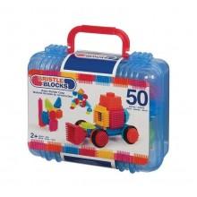 B.Toys - Elastyczne Klocki Jeżyki - Bristle Blocks - Walizka 50 el. BX3081