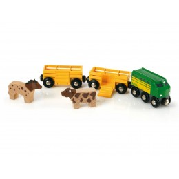 BRIO 33404 Pociąg z Farmy 2 Wagony