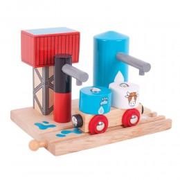 Kolejka drewniana Stacja mleka i wody BigJigs BJT251