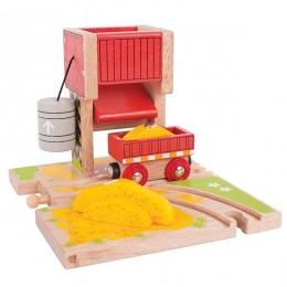 BJT252 Kolejka drewniana - Załadownia piasku automatyczna