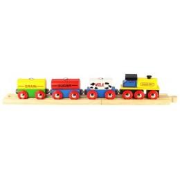 BJT184 Kolejka Drewniana Pociąg towarowy
