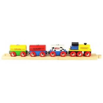 Kolejka Drewniana Pociąg towarowy BigJigs BJT184