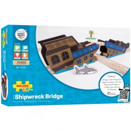 Kolejka Drewniana Most Wrak Statku BigJigs BJT264