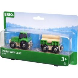 BRIO Traktor z przyczepą drewna 33799