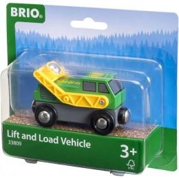 BRIO Lokomotywa do transportu wagonów z drewnem 33809
