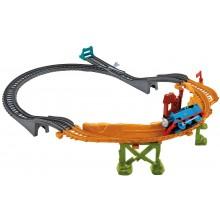 Fisher Price CDB59 Kolejka Trackmaster ZNISZCZONY MOST