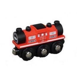 MAXIM Kolejka drewniana 50478 Czerwona lokomotywa