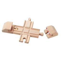 MAXIM Kolejka drewniana 50920 Bufory ze skrzyżowaniem