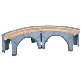 MAXIM Kolejka drewniana 50929 Wiadukt kolejowy - zakręt