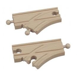 MAXIM Kolejka drewniana 50931 Rozjazdy krótkie