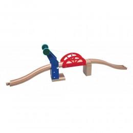 MAXIM Kolejka drewniana 50967 Most podnoszony dźwigiem