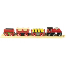 BJT183 Kolejka Drewniana Pociąg Towarowy Dostawczy