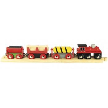 Kolejka Drewniana Pociąg Towarowy Dostawczy BigJigs BJT183