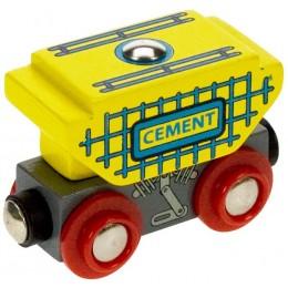 BJT401 Kolejka Drewniana Wagon z Cementem Do Kolejek