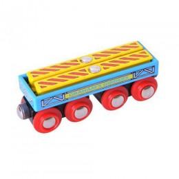 Kolejka Drewniana Wagon z Dźwigarami BigJigs BJT409