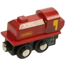 BJT435 Kolejka Drewniana Lokomotywa SENTINEL Czerwona