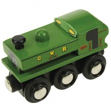 BJT437 Kolejka Drewniana PANNIER Zielona BJT437