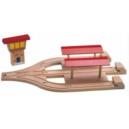 MAXIM 50947 Stacja Kolejowa 3 perony do kolejek drewnianych