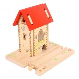 BJT222 Wieża z dzwonkiem do kolejek drewnianych