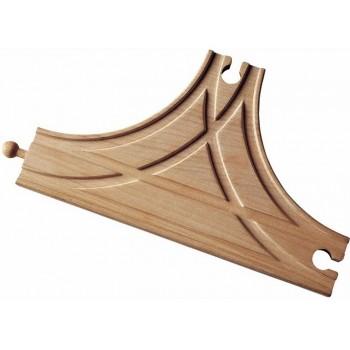 MAXIM 50926 Skrzyżowanie typu T  do kolejek drewnianych
