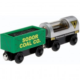 Kolejka Drewniana Tomek Y4505 Wagony z ropą naftową i węglem