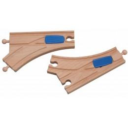 MAXIM 50957 Zwrotnica Mechaniczna do kolejek drewnianych